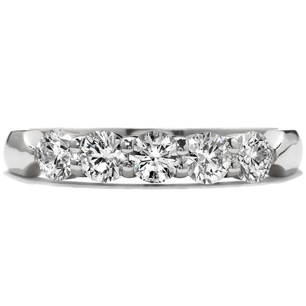 Anniversary Bands - 1.5 ctw. Five-Stone Wedding Band in 18K White Gold