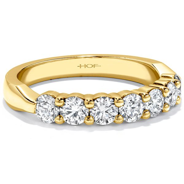 Anniversary Bands - 1.25 ctw. Seven-Stone Band in 18K Yellow Gold - image #3