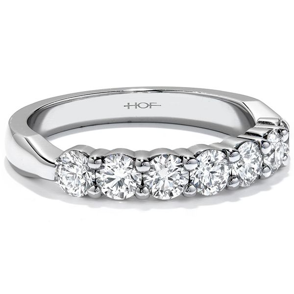 Anniversary Bands - 1.5 ctw. Seven-Stone Band in 18K White Gold - image #3