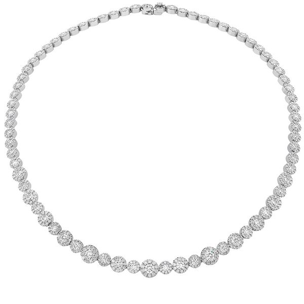 Women's Wedding Bands - 14.3 ctw. Fulfillment Diamond Line Necklace in 18K White Gold