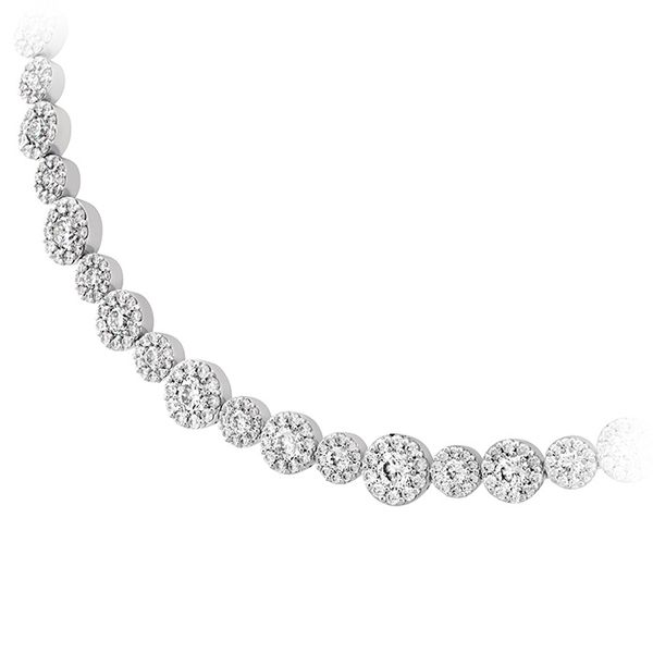 Women's Wedding Bands - 14.3 ctw. Fulfillment Diamond Line Necklace in 18K White Gold - image #2