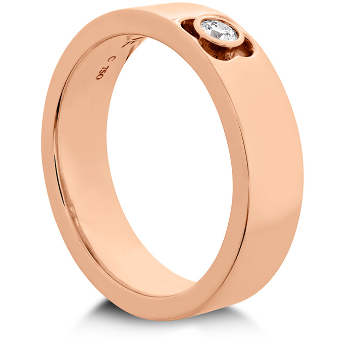 Women's Wedding Bands - 0.1 ctw. Copley Single Diam Band 6mm in 18K Rose Gold w/Platinum - image #2