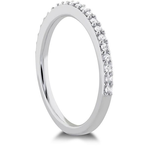 Women's Wedding Bands - 0.18 ctw. Camilla Diamond Band in 18K White Gold - image #2