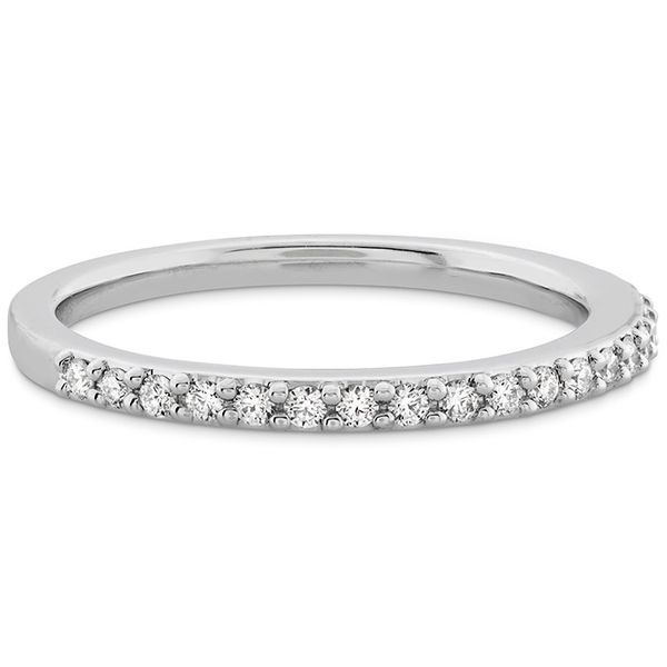 Women's Wedding Bands - 0.18 ctw. Camilla Diamond Band in 18K White Gold - image #3