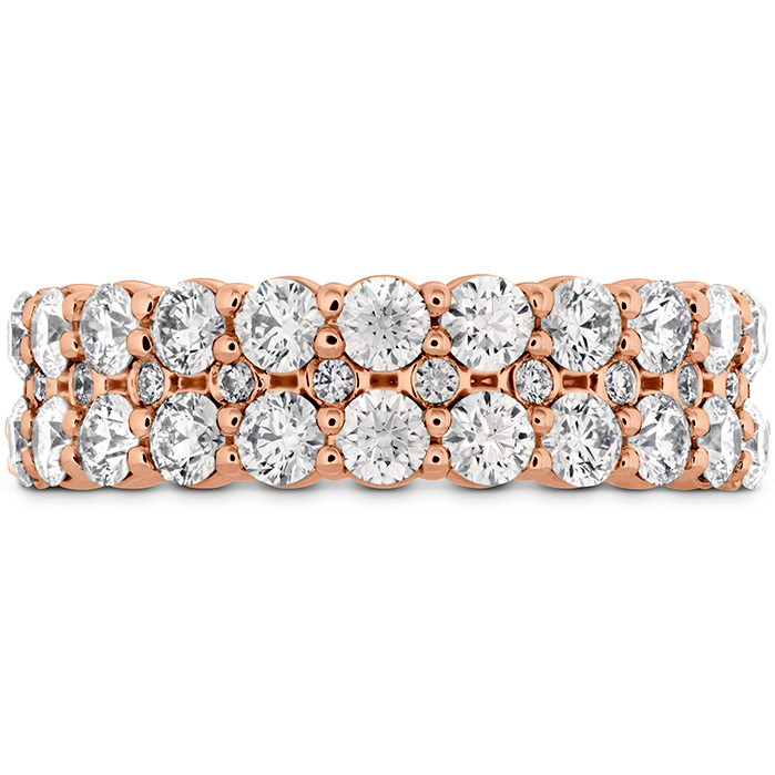 Women's Wedding Bands - 1.8 ctw. HOF Classic Double Row Band in 18K Rose Gold