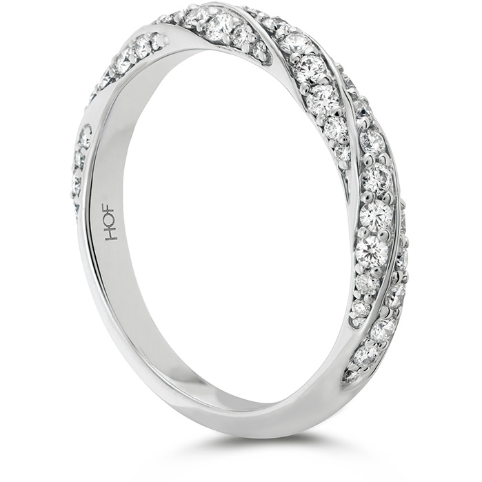 Anniversary Bands - 0.5 ctw. Atlantico Pave Band in Platinum - image 2