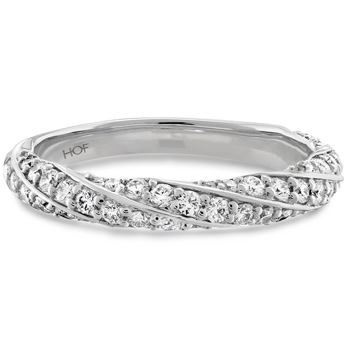 Anniversary Bands - 0.5 ctw. Atlantico Pave Band in Platinum - image #3