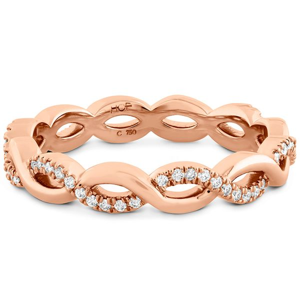 Women's Wedding Bands - 0.18 ctw. Destiny Lace Twist Eternity Band in 18K Rose Gold - image #3
