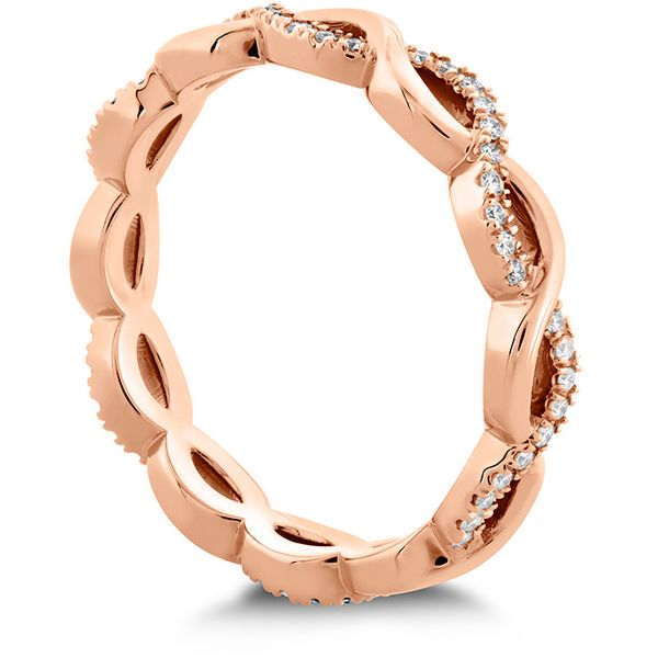 Women's Wedding Bands - 0.18 ctw. Destiny Lace Twist Eternity Band in 18K Rose Gold - image #2