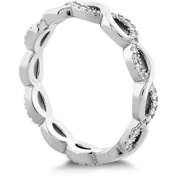 Women's Wedding Bands - 0.18 ctw. Destiny Lace Twist Eternity Band in 18K White Gold - image 2