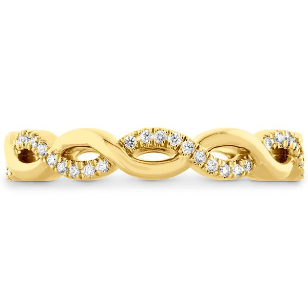 Women's Wedding Bands - 0.18 ctw. Destiny Lace Twist Eternity Band in 18K Yellow Gold