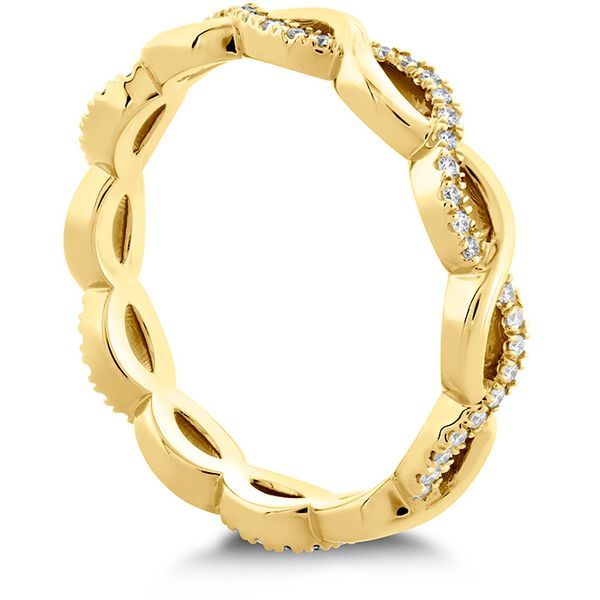 Women's Wedding Bands - 0.18 ctw. Destiny Lace Twist Eternity Band in 18K Yellow Gold - image #2