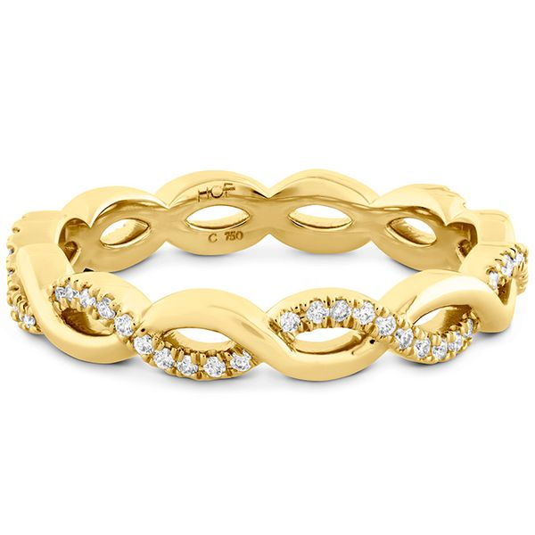 Women's Wedding Bands - 0.18 ctw. Destiny Lace Twist Eternity Band in 18K Yellow Gold - image #3