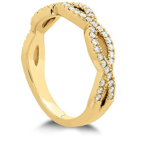 Women's Wedding Bands - 0.3 ctw. Destiny Twist Diamond Band in 18K Yellow Gold - image #2