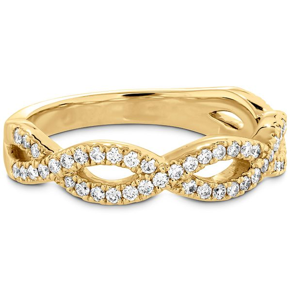 Women's Wedding Bands - 0.3 ctw. Destiny Twist Diamond Band in 18K Yellow Gold - image #3