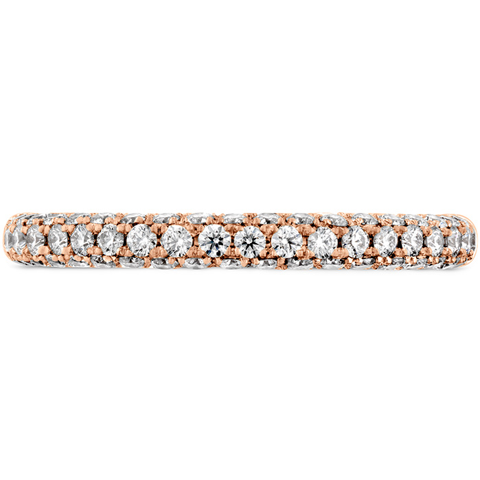 Anniversary Bands - 0.45 ctw. Euphoria Pave Band in 18K Rose Gold