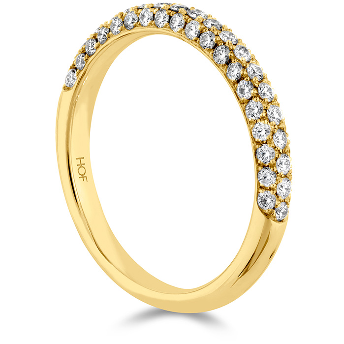 Anniversary Bands - 0.45 ctw. Euphoria Pave Band in 18K Yellow Gold - image #2