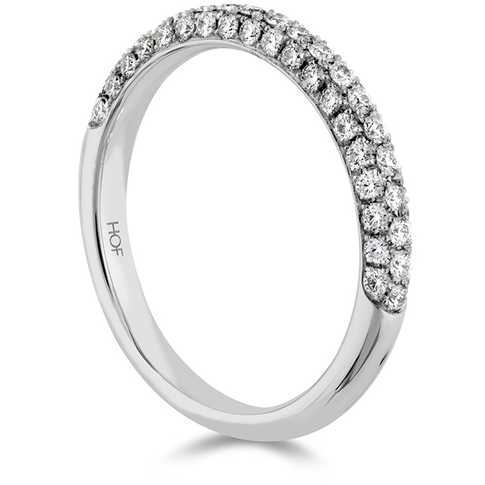 Anniversary Bands - 0.45 ctw. Euphoria Pave Band in Platinum - image #2