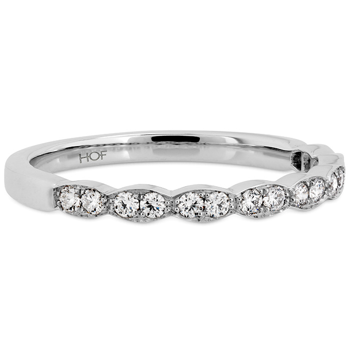 Anniversary Bands - 0.2 ctw. Lorelei Floral Diamond Band in Platinum - image #3