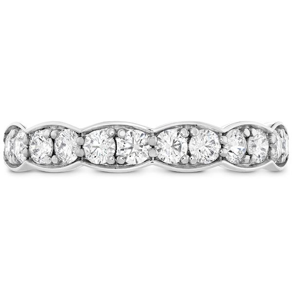 Women's Wedding Bands - 0.7 ctw. Lorelei Floral Diamond Band Large in 18K White Gold