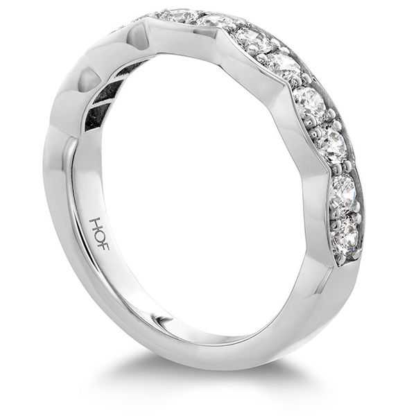 Women's Wedding Bands - 0.7 ctw. Lorelei Floral Diamond Band Large in 18K White Gold - image #2