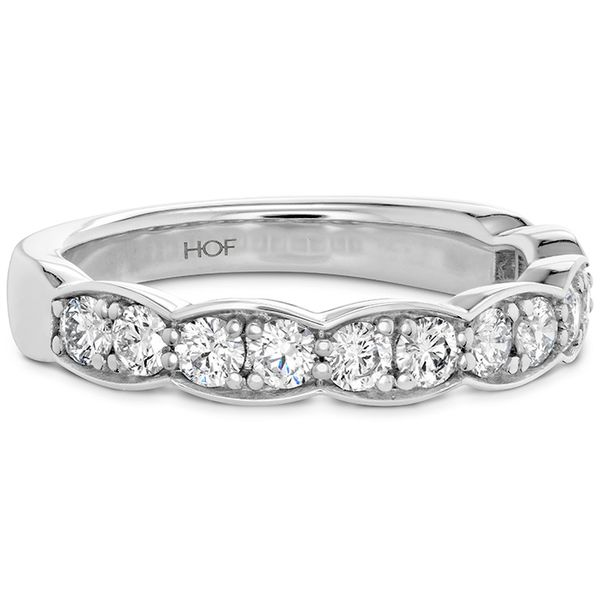 Women's Wedding Bands - 0.7 ctw. Lorelei Floral Diamond Band Large in 18K White Gold - image #3