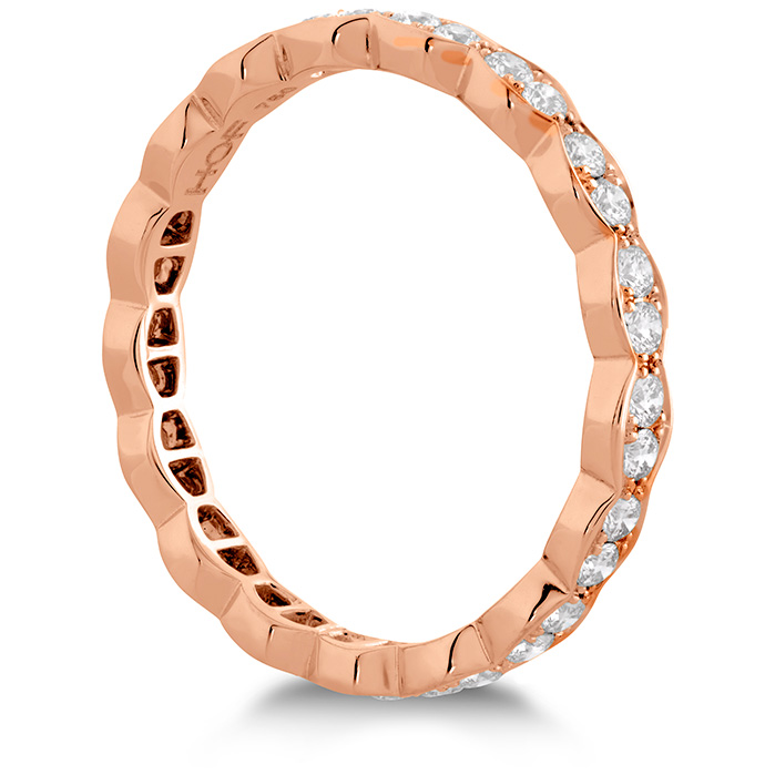 Anniversary Bands - 0.45 ctw. Lorelei Floral Eternity Band in 18K Rose Gold - image #2