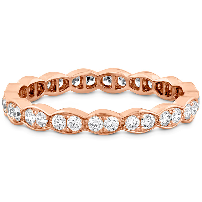 Anniversary Bands - 0.45 ctw. Lorelei Floral Eternity Band in 18K Rose Gold - image #3
