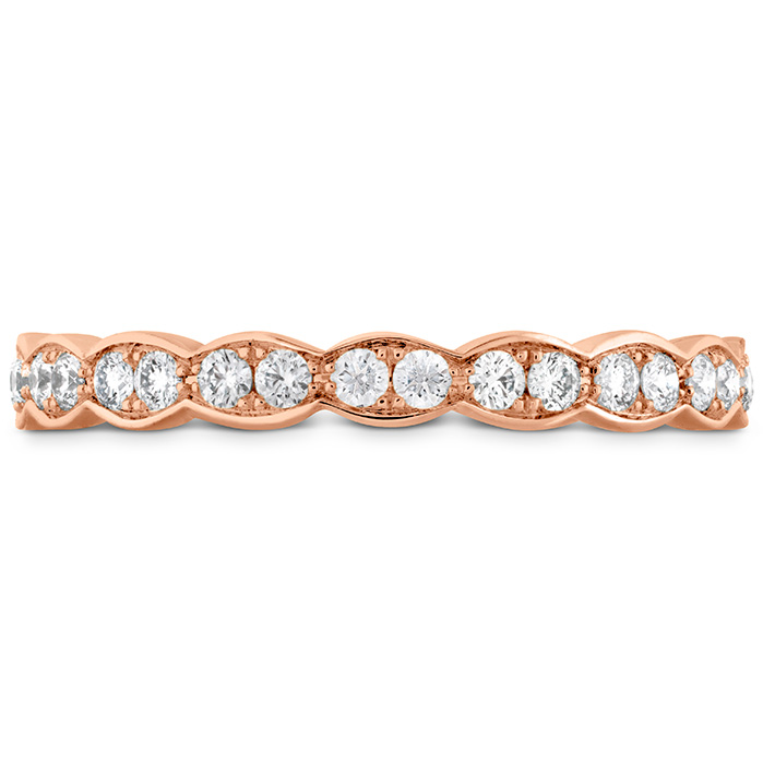 Anniversary Bands - 0.5 ctw. Lorelei Floral Eternity Band in 18K Rose Gold