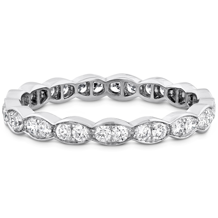 Anniversary Bands - 0.45 ctw. Lorelei Floral Eternity Band in 18K White Gold - image #3