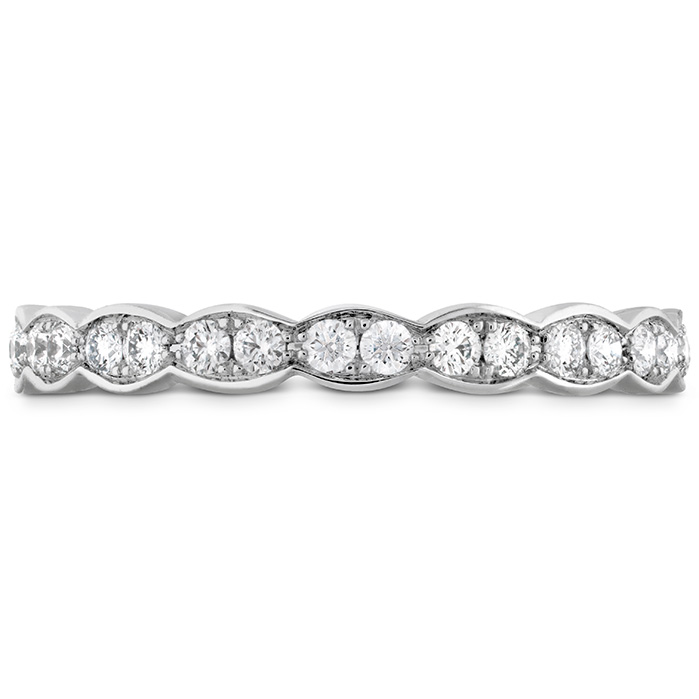 Anniversary Bands - 0.5 ctw. Lorelei Floral Eternity Band in 18K White Gold