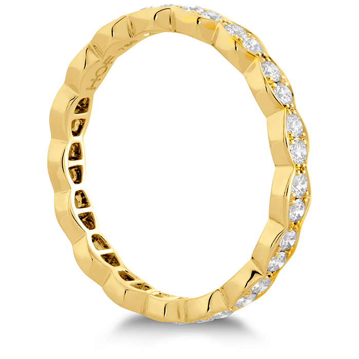 Anniversary Bands - 0.45 ctw. Lorelei Floral Eternity Band in 18K Yellow Gold - image #2