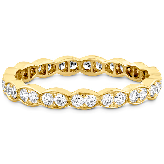 Anniversary Bands - 0.45 ctw. Lorelei Floral Eternity Band in 18K Yellow Gold - image #3