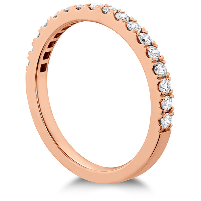 Women's Wedding Bands - 0.55 ctw. HOF Hexagonal Diamond Band in 18K Rose Gold - image #2