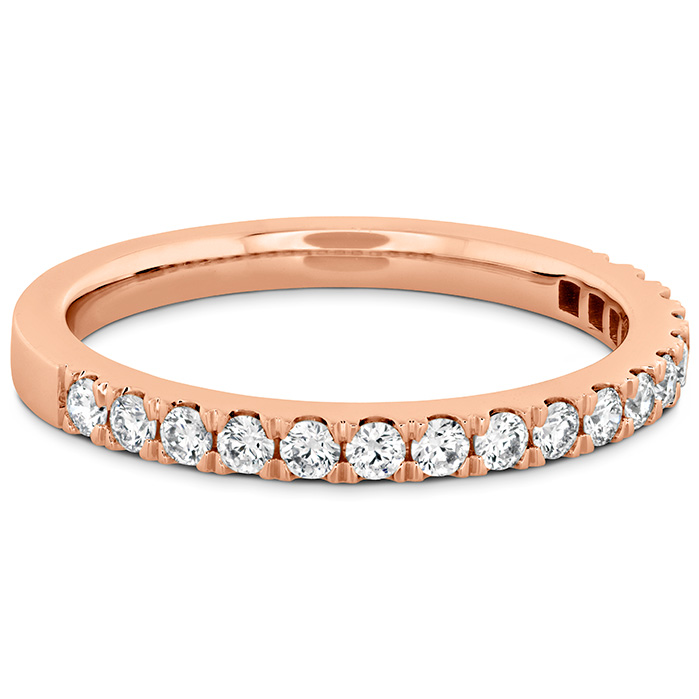 Women's Wedding Bands - 0.55 ctw. HOF Hexagonal Diamond Band in 18K Rose Gold - image #3