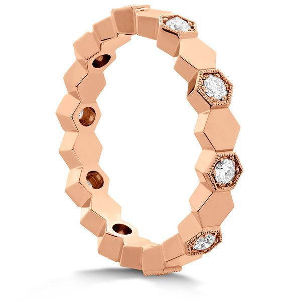 Women's Wedding Bands - 0.3 ctw. HOF Hex Eternity Band in 18K Rose Gold - image #2
