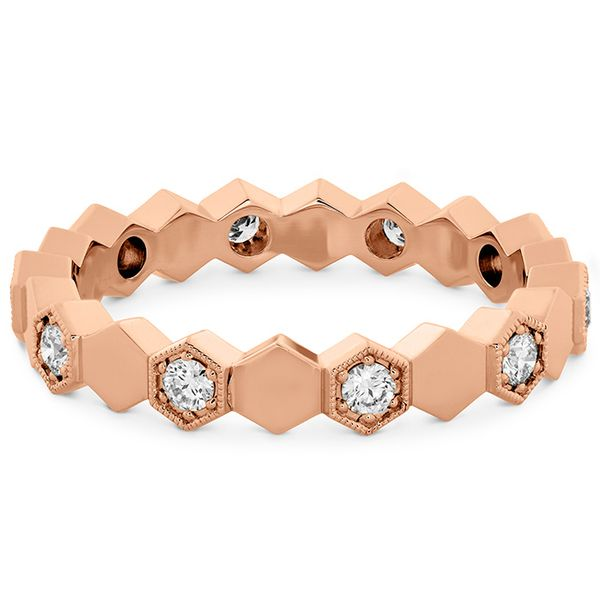 Women's Wedding Bands - 0.3 ctw. HOF Hex Eternity Band in 18K Rose Gold - image #3