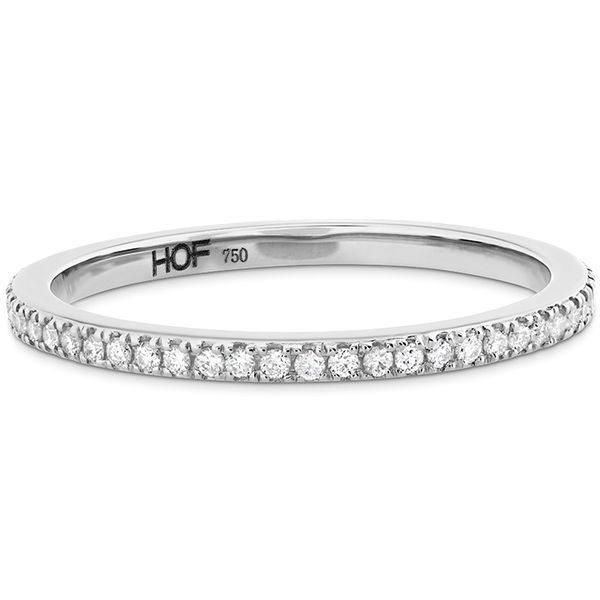 Women's Wedding Bands - 0.22 ctw. HOF Classic Eternity Band in 18K White Gold - image #3