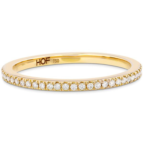 Women's Wedding Bands - 0.2 ctw. HOF Classic Eternity Band in 18K Yellow Gold - image #3