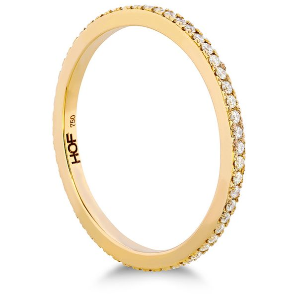 Women's Wedding Bands - 0.23 ctw. HOF Classic Eternity Band in 18K Yellow Gold - image 2