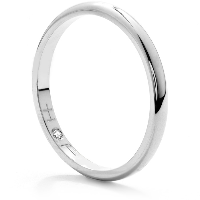 Anniversary Bands - Ladies Half-Round Comfort Fit Band in Platinum - image #2