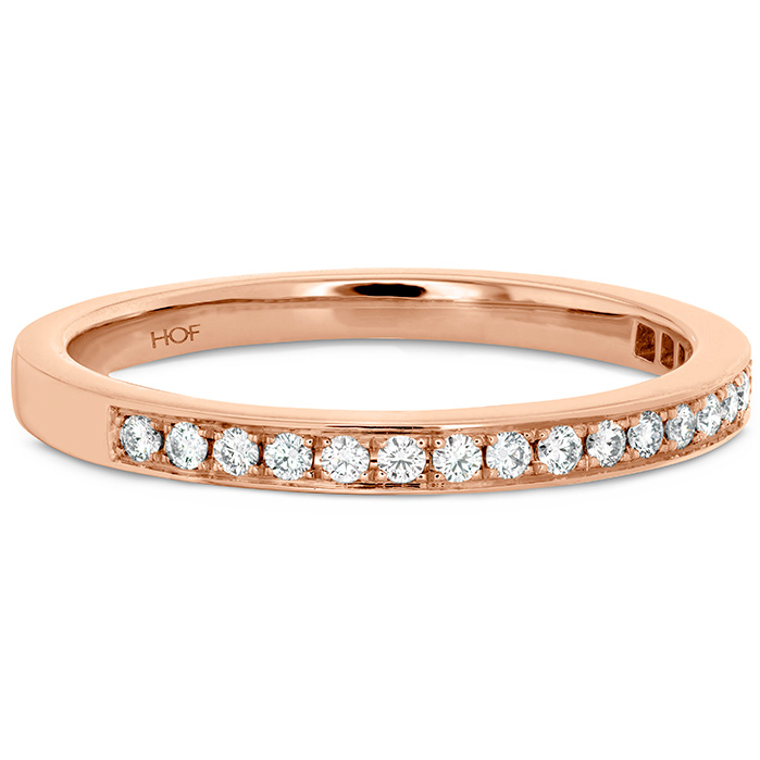 Anniversary Bands - 0.15 ctw. Illustrious Diamond Band in 18K Rose Gold - image #3