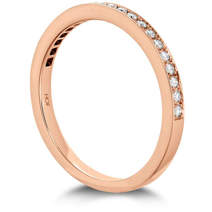 Anniversary Bands - 0.15 ctw. Illustrious Diamond Band in 18K Rose Gold - image #2
