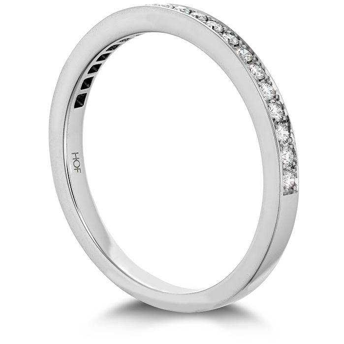 Anniversary Bands - 0.15 ctw. Illustrious Diamond Band in 18K White Gold - image #2