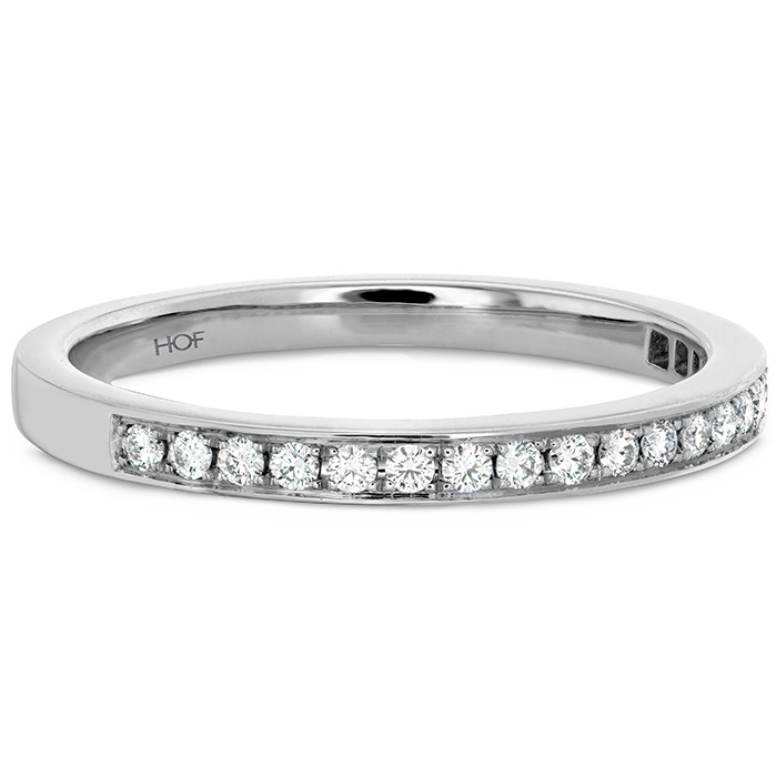 Anniversary Bands - 0.15 ctw. Illustrious Diamond Band in 18K White Gold - image #3