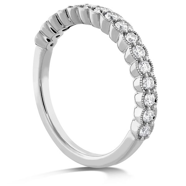Women's Wedding Bands - 0.42 ctw. Isabelle Milgrain Diamond Band in 18K White Gold - image #2