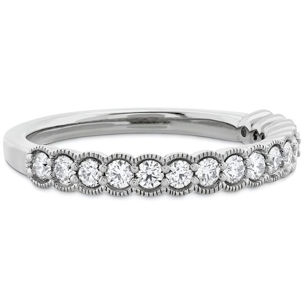 Women's Wedding Bands - 0.42 ctw. Isabelle Milgrain Diamond Band in 18K White Gold - image #3