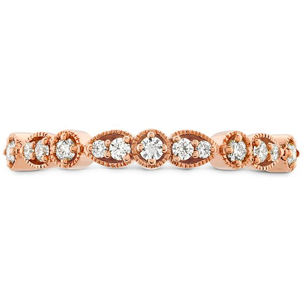 Women's Wedding Bands - 0.18 ctw. Isabelle Teardrop Milgrain Diamond Band in 18K Rose Gold