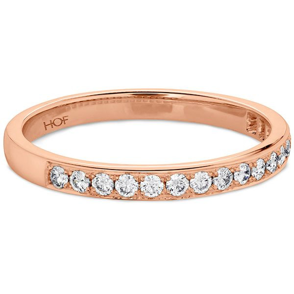 Anniversary Bands - 0.2 ctw. Lorelei Bloom Diamond Band in 18K Rose Gold - image #3
