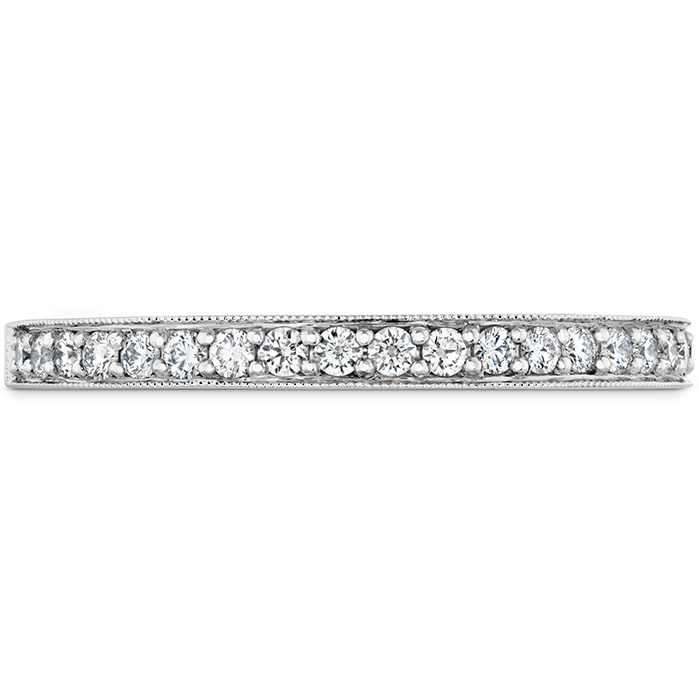 Women's Wedding Bands - 0.18 ctw. Liliana Milgrain Diamond Band in 18K White Gold